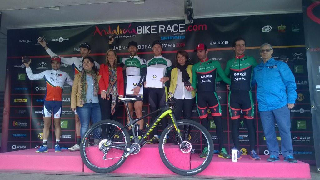 Andalucía Bike Race Podium David Rosa Tiago Ferreira