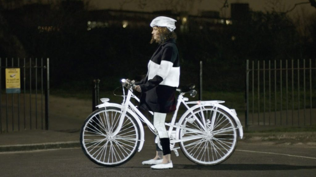 Volvo LifePaint bike girl