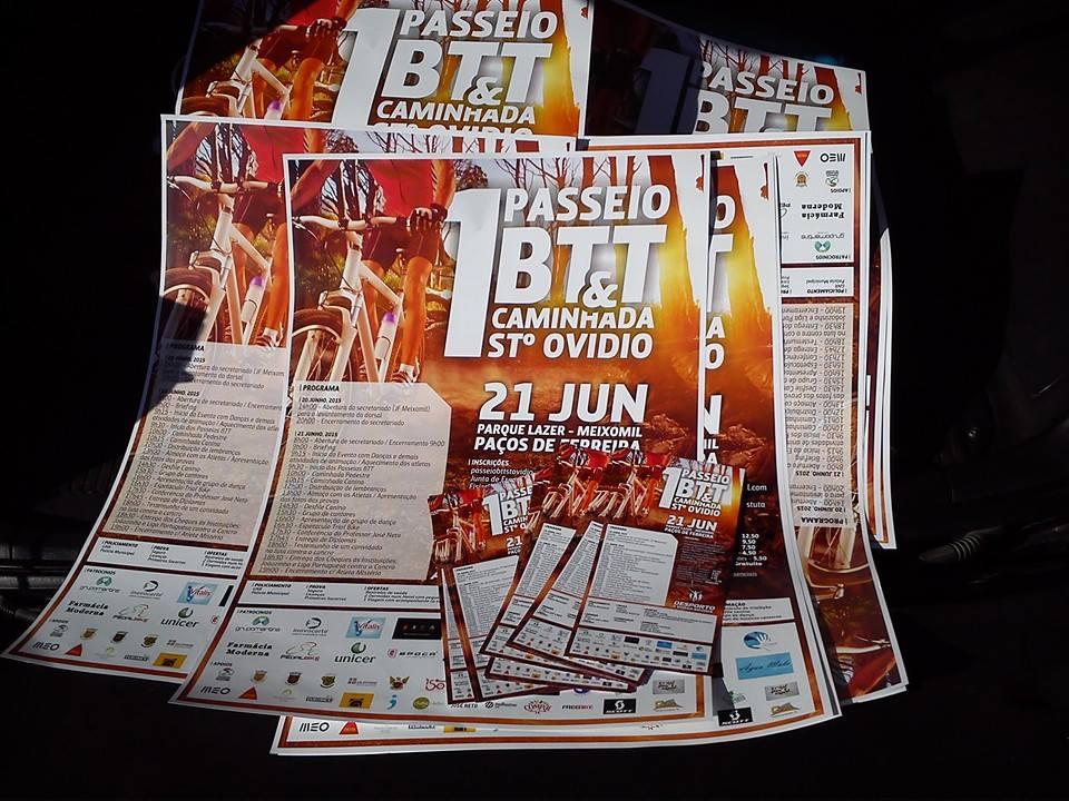 1.º Passeio BTT e Caminhada de St.º Ovídio 2015 flyer