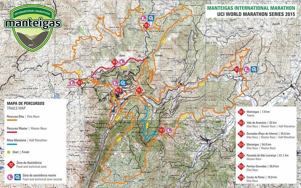 Manteigas International Marathon mapa