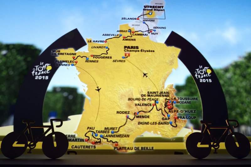 O comeco do Tour de 2015 teve lugar em Utrecht no centro da Holanda