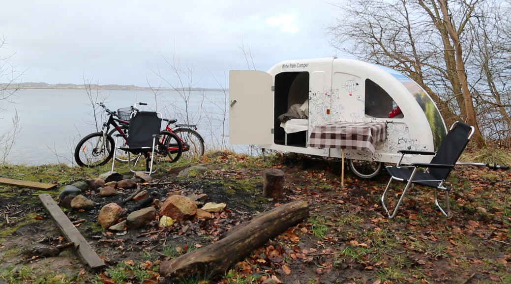 Wide Path Camper bike caravan parking