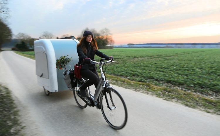 Wide Path Camper bike girl