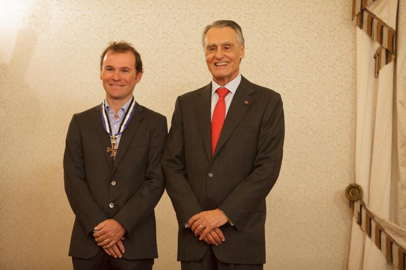 Sergio Paulinho e Cavaco Silva