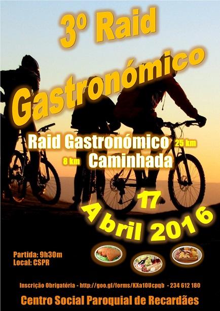 Cartaz 3º Raid Gastronómico