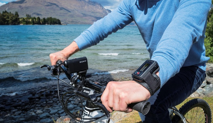 Sony Action Cam HDR-AS50 bike