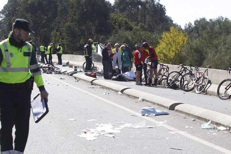 Dois ciclistas mortos e seis feridos em atropelamento galiza