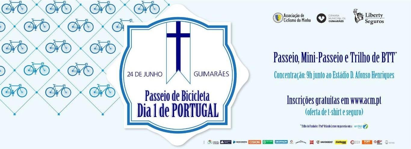 Passeio de Bicicleta Dia 1 de Portugal 2016
