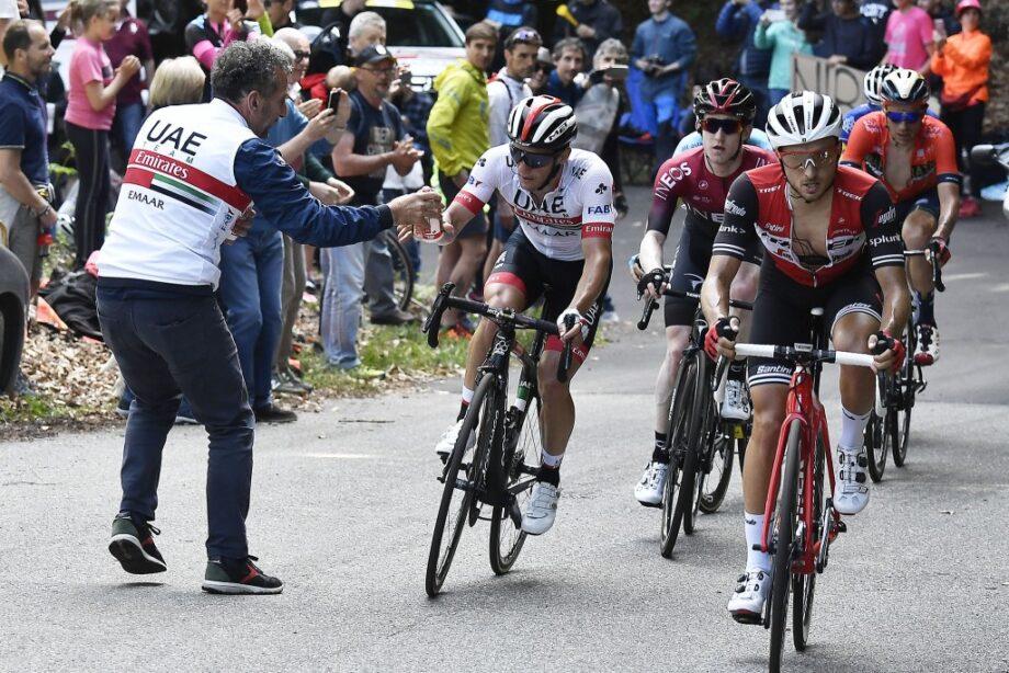 Jan Polanc à camisola rosa do Giro d'Italia