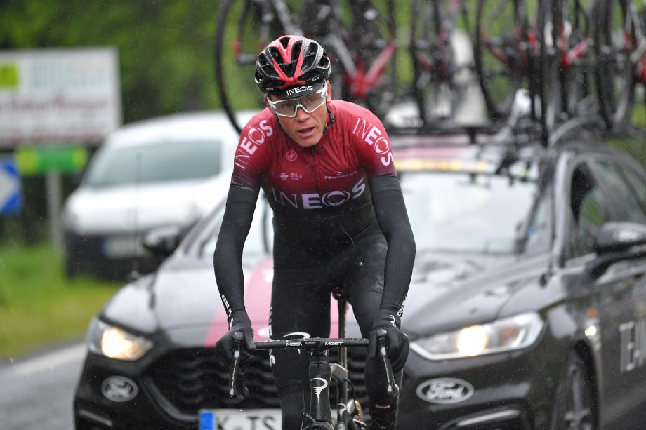 Chris Froome sofreu